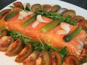 Como preparar tarta de salmón y langostinos