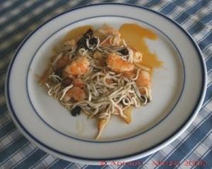 receta de gulas con almejas y langostinos
