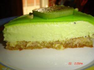 Tarta de queso al kiwi