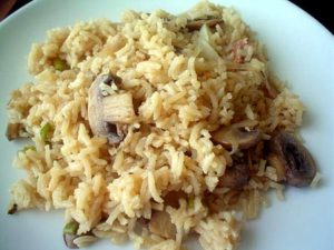 como preparar arroz con setas