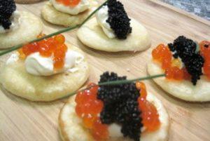 Como hacer Blinis con patatas y caviar