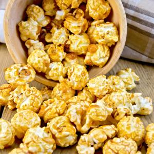 como hacer Caramel Popcorn