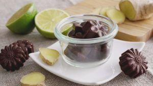 Como hacer Chocolates de jengibre y lima