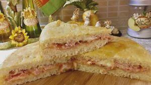 Como hacer Focaccia rellena de masa de queso ricotta