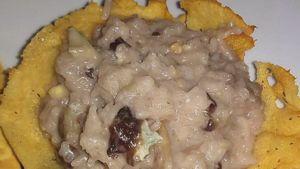 Como hacer Risotto con achicoria, salchicha y gorgonzola