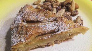 Como hacer Pastel de manzana con frutos secos y muesli