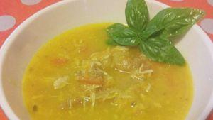 Como hacer Sopa de pollo y pimientos al curry